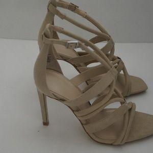 Odzież, Buty i Dodatki Zara Neutral Strappy High Heel Sandal